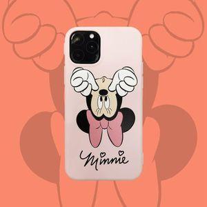 COQUE - BUMPER Coque iPhone 11,Disney Minnie Rose 1 Logo Antichoc