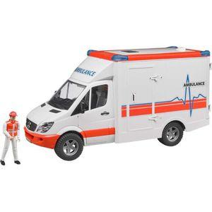 VOITURE - CAMION BRUDER 2536 Véhicule ambulance Mercedes Benz Sprin