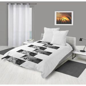 COUETTE Couette imprimée 220x240 LIONS BLANC Blanc