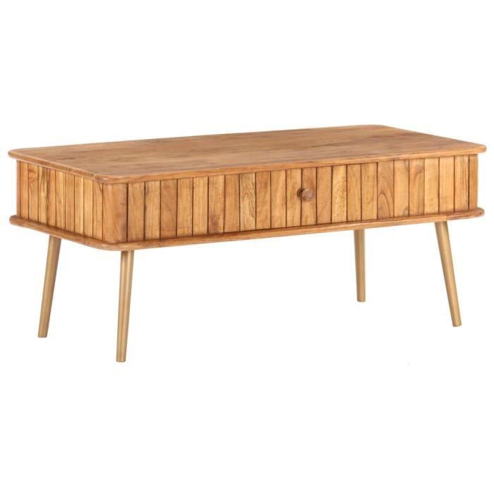 LANG Table basse 100x50x40 cm Bois d'acacia massif