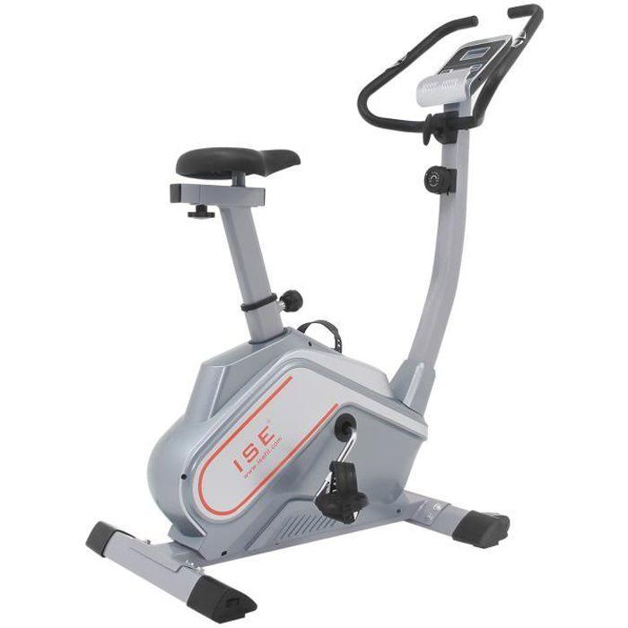 ISE Vélo d'appartement Magnétique Cardio, Vélo statique compact 8 niveaux de résistance,Support de Tablette,Masse d'inertie 12 Kg