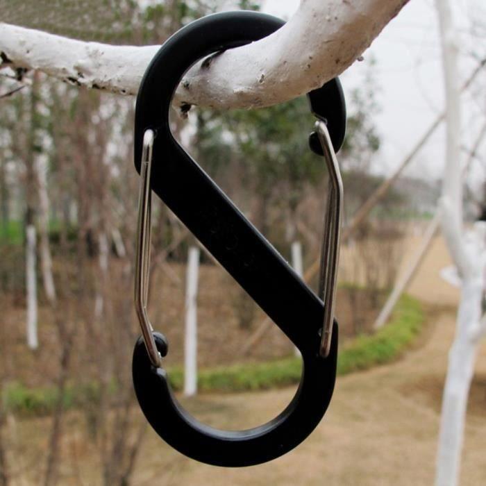 Gourde-Forme Porte-clefs Mousqueton Mini-clips De Verrouillage Couleur aléatoire