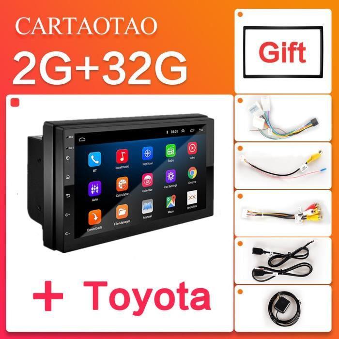 2 din 7 pouces lecteur autoradio 2GB + 32GB Android 8.1 GPS navigation Bluetooth voiture vidéo stéréo - Type 9217B-2G-Toyota