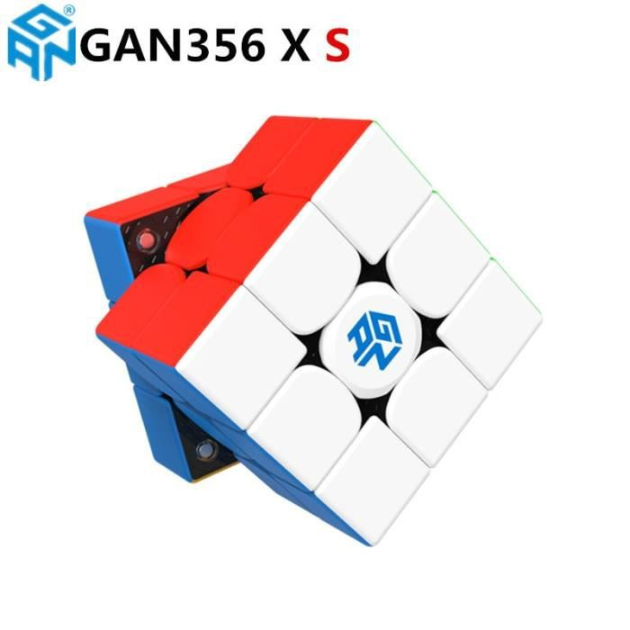 Casse tête,GAN356 X S magnétique magique cube de vitesse GAN356X professionnel gan 356 X aimants puzzle - Type GAN356X S stickerles