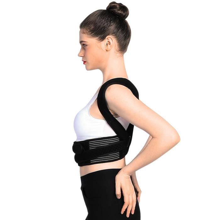 Atyhao Ceinture de soutien de taille lombaire pour hommes et femmes Orthèse de maintien de la clavicule correcteur de posture pour