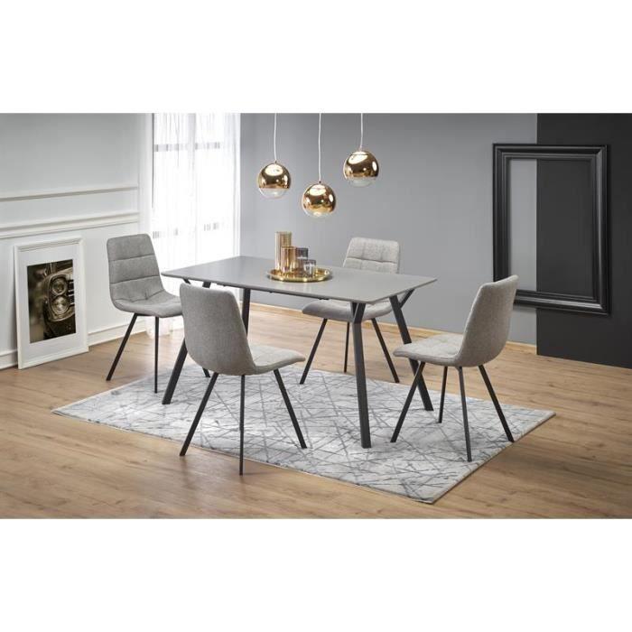 Table à manger 140 cm x 80 cm x 74 cm