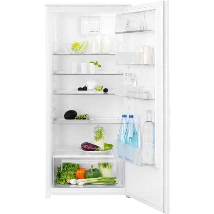 Electrolux ERB3DF12S - Réfrigérateur 1 Porte Encastrable - 207L - Froid Brassé - L 56 x H 122.5 cm - Fixation Glissière
