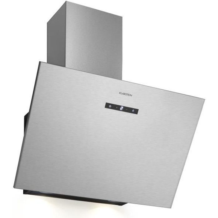 Hotte - Klarstein Silver Lining 60 - 600 m³-h - Classe A- inox