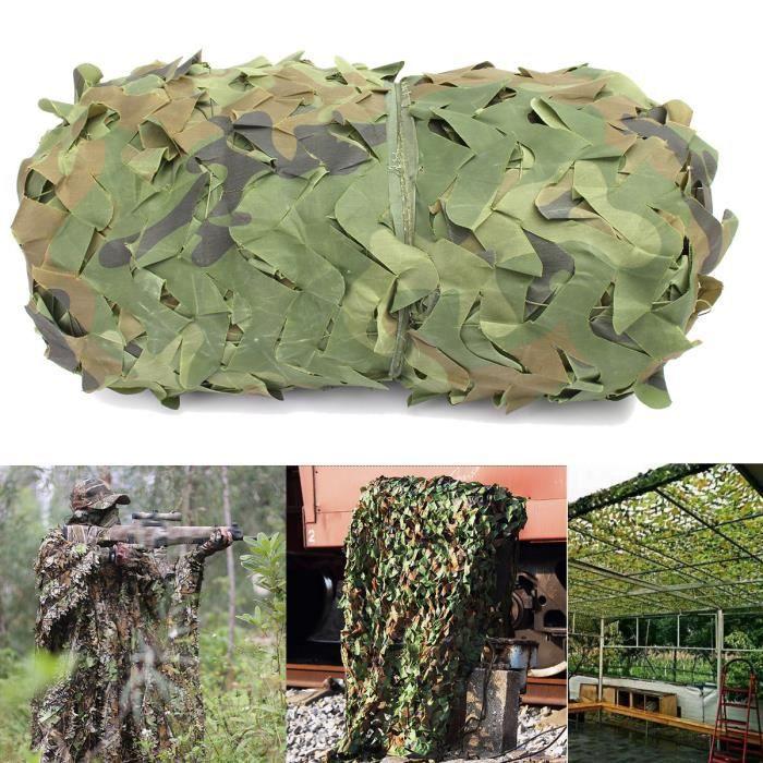 TEMPSA Filet De Protection Nylon Filet de camouflage Forêt Camping Chasse Cacher Armée Militaire 6MX4M