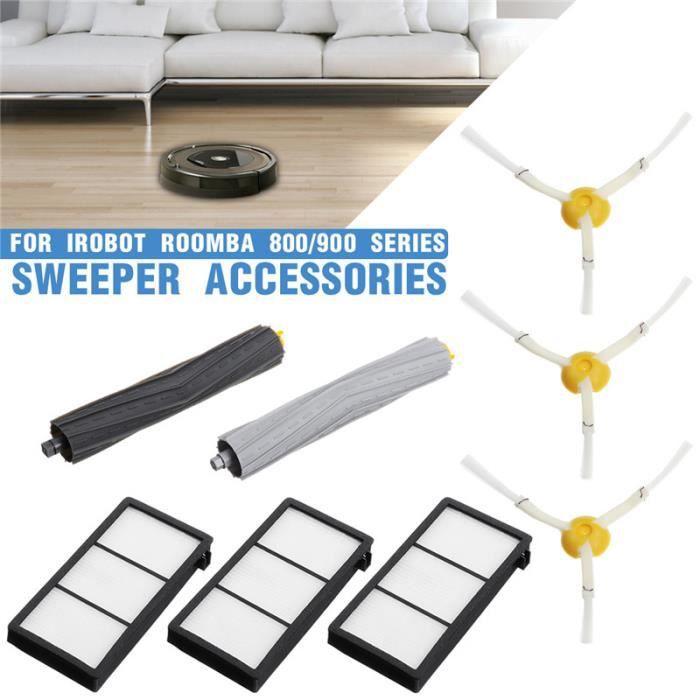 Kit 8PCS Filtre Brosse Remplacement Accessoires Pour iRobot Roomba 800/900 Series