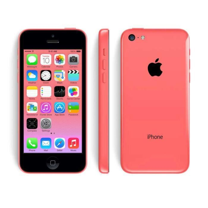 apple iphone 5c 16 go rose reconditionne a neuf achat. Black Bedroom Furniture Sets. Home Design Ideas