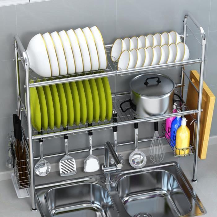 Cuisine Rangement Étagère Assiette Plat Rack Séchage Support Agenda Réglable