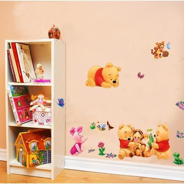 stickers muraux enfant winnie et ses amis achat vente. Black Bedroom Furniture Sets. Home Design Ideas