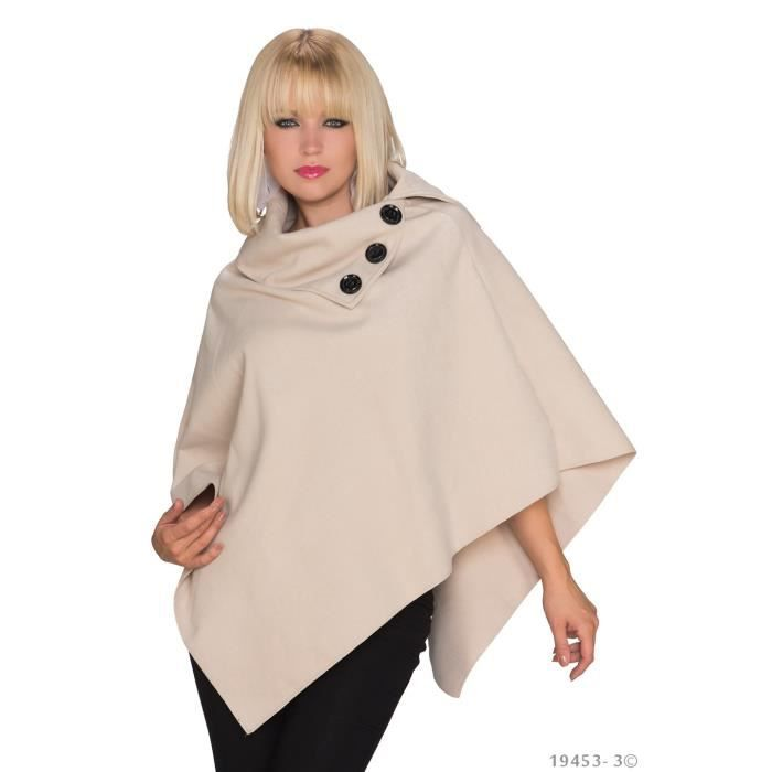 poncho cape femme glamour beige veste beige achat vente veste 2009953603366 cdiscount. Black Bedroom Furniture Sets. Home Design Ideas