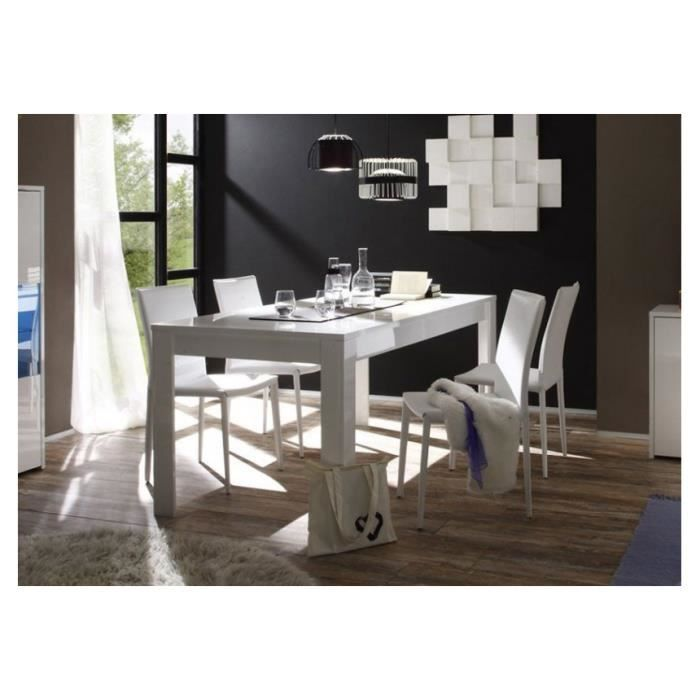 Table repas blanche laqu e artic dimensions l achat vente table a mang - Table laquee blanche ...