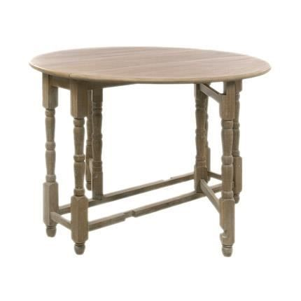 Table ronde pliable en bois massif achat vente table a manger sans chaise - Table a manger pliable ...