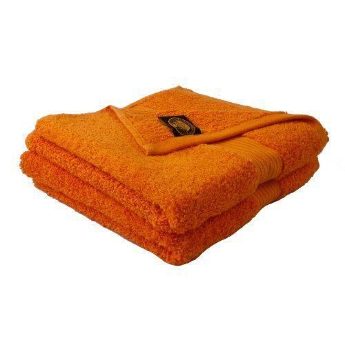 g zze lot de 2 serviettes de toilette orange 50x100 cm 100 coton excellente qualit 550 g. Black Bedroom Furniture Sets. Home Design Ideas