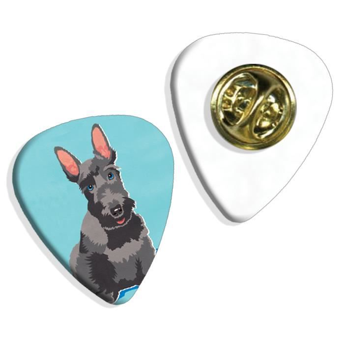 Scottie Scottish Terrier Martin Wiscombe Insigne de Pick Guitar Vintage Retro