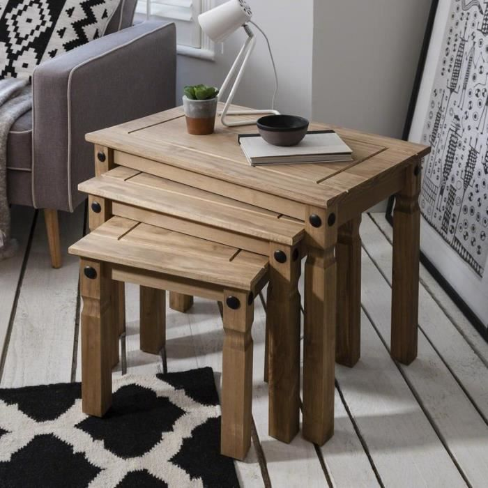 table gigogne bois achat vente pas cher. Black Bedroom Furniture Sets. Home Design Ideas