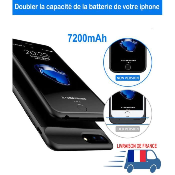 coque batterie iphone 8 plus 6s 7plus 7000mah bat