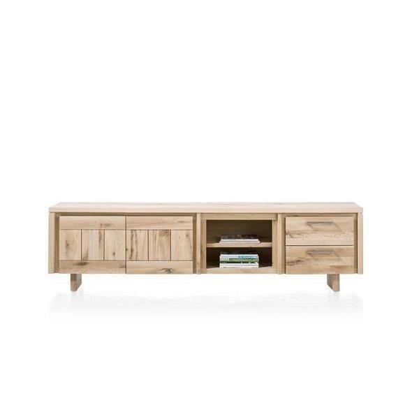 meuble tv 240 cm ch ne massif more h h achat vente meuble tv meuble tv 240 cm ch ne mass. Black Bedroom Furniture Sets. Home Design Ideas