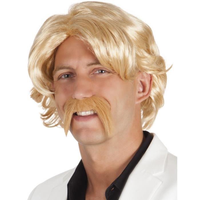 Perruque Homme Blond Achat Vente Chapeau Perruque Cdiscount