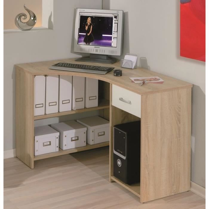 bureau d 39 angle informatique caprera achat vente bureau bureau d 39 angle informatique cdiscount. Black Bedroom Furniture Sets. Home Design Ideas