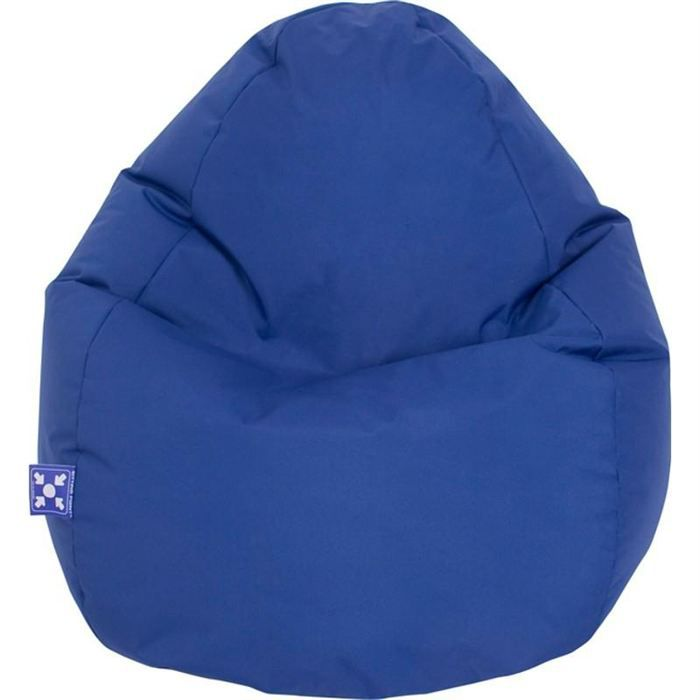 pouf jumbo bag scuba xxl bleu achat vente pouf poire tissu cdiscount. Black Bedroom Furniture Sets. Home Design Ideas