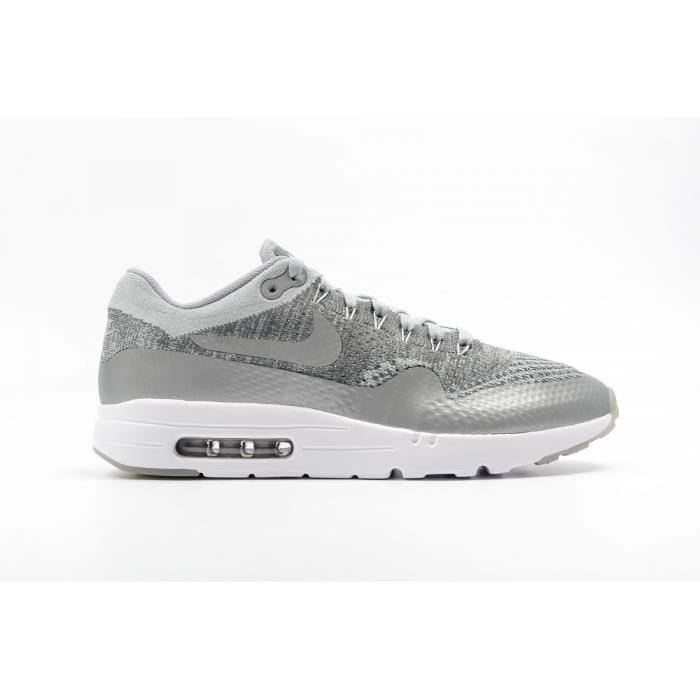 Basket NIKE AIR MAX 1 ULTRA FLYKNIT - Age - ADULTE, Couleur - GRIS, Genre - HOMME, Taille - 40,5