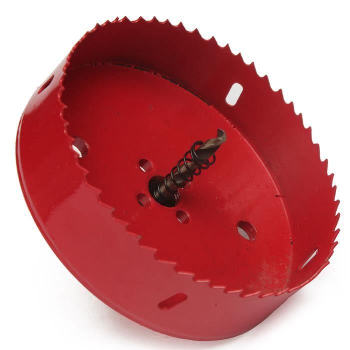 1pc Bi-m/étal foret M42 HSS tr/épan de forage pilote trou de diam/ètre 155 mm scie cloche pour d/écouper des trous circulaires avec tige
