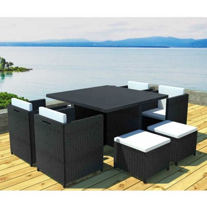 paris prix salon de jardin en r sine rhodes 8 places gris cru achat vente salon de. Black Bedroom Furniture Sets. Home Design Ideas