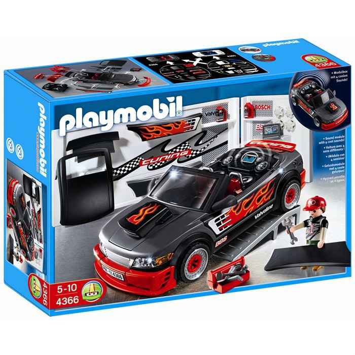 playmobil voiture tuning effets sonores achat vente univers miniature cdiscount. Black Bedroom Furniture Sets. Home Design Ideas