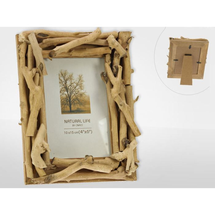 Porte photo bois flotte 10x15 cm achat vente porte for Porte photo en bois flotte