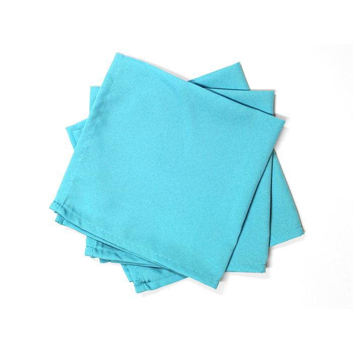 lot de 3 serviettes de table alix turquoise achat. Black Bedroom Furniture Sets. Home Design Ideas
