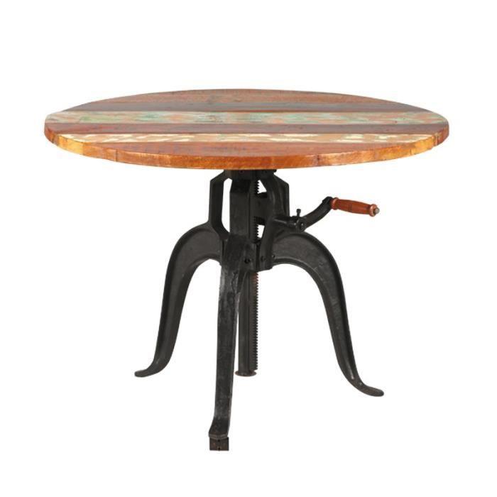 Table D Appoint à Hauteur Variable Denver L 90 X L 90 X H 75 Cm