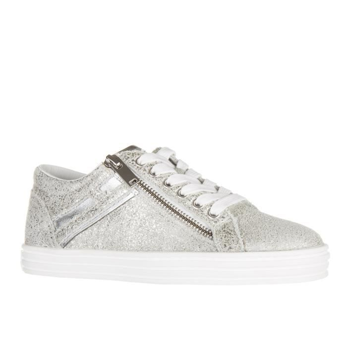 Chaussures baskets sneakers femme en cuir rebel r141 zip Hogan Rebel