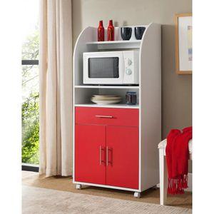 DESSERTE - BILLOT KITCHEN Desserte de cuisine 62 cm - Blanc et rouge