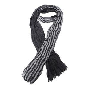 foulard pour homme demi-saison gris clair dominant 180 x 50 cm. Chèche