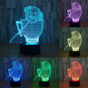 LAMPE A POSER illusion 3D visuelle Night Light 7 Modifier les co