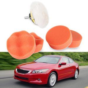 """Perceuse Adaptateur-Pour voiture polonais 6pcs 3/"""" haute Brut polissage tampon pad set"""