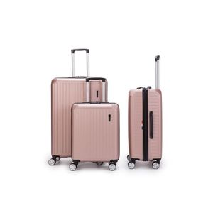 SET DE VALISES LYS - lot de 3 Valises rose gold Rigide ABS trolle