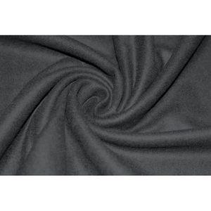 TISSU Tissu Drap de Laine Noir -Au Mètre