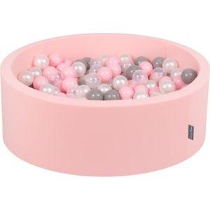 PISCINE À BALLES KiddyMoon 90X30cm/300 Balles ∅ 7Cm Piscine À Balle
