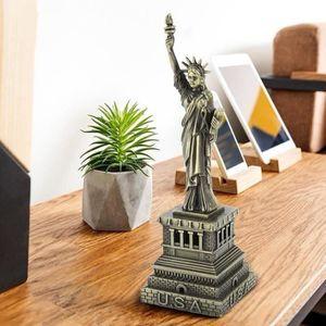 STATUE - STATUETTE ss-33-Statue Liberté En Métal Modèle De Constructi