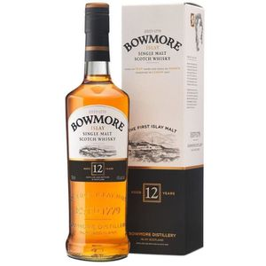 WHISKY BOURBON SCOTCH BOWMORE ISLAY SLAY SINGLE MALT SCOTCH WHISKY 12 AN