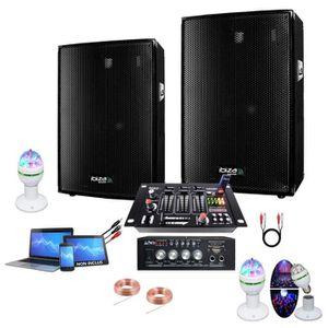 JEUX DE LUMIERE SONO DJ JEU DE LUMIERE AVEC AMPLI 2 ENCEINTES 300W