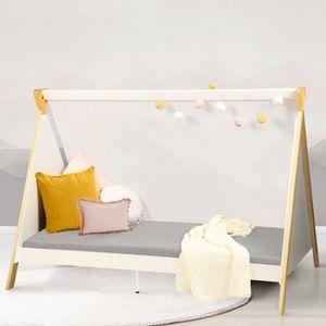 STRUCTURE DE LIT Lit tipi bois blanc