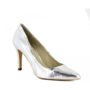 Chaussures de mariée Plateforme Escarpins blanc avec paillettes b24