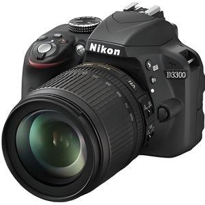 APPAREIL PHOTO RÉFLEX Nikon D3300 + 18-105mm VR Noir Ref VBA390K005