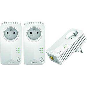 COURANT PORTEUR - CPL Strong CPL 500 Mbps, Kit de 3 Adaptateurs CPL avec